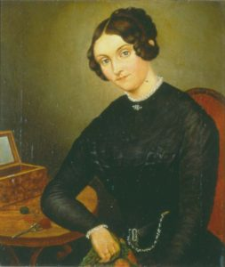 Oil painting, unknown painter, ca. 1832; Stadtmuseum Bonn. The painting is included on page 1 of Johanna Kinkel: Eine Auswahl aus ihrem literarischen Werk, compiled by Monica Klaus, ed. by Ingrid Bodsch (Bonn: Stadtmuseum, 2010).